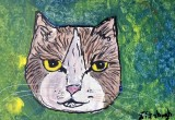 Face of a Cat in The Grass now SOLD