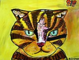 Original Painting SILLY CAT now SOLD
