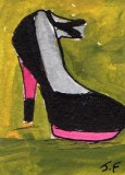 Black and Pink Shoe