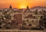 Sunset on the Bagan Ruins