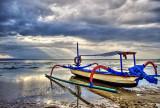 Jukung at Low Tide
