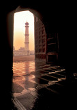 Minaret from the Mosque Door at Taj Mahal