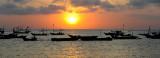 Sunset on  Jimbaran's Fishing Fleet