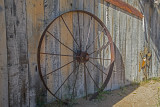 Rusted Wagon Wheel Rim