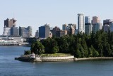 Stanley Park's Brockton Point Lighthouse and Downtown Vancouver
