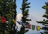 74 prayer flags at summit house