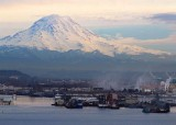 82 rainier watching over the port of tacoma