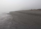 28 a big foggy beach