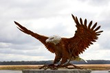 Metal Eagle Sculpture