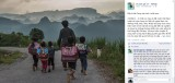 Photo of schoolchildren in Ha Giang Province Vietnam posted on the Alehap Facebook page