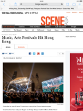 Photo of Clockenflap 2012 in Wall Street Journal Online, November 2013