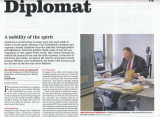 Portrait of German Consul General in Harbour Times 15 - Jan 2014