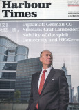 Portrait of German Consul General on Harbour Times issue 15 cover - Jan 2014