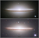 Comparisons with images by Hubble and other large telescopes