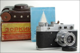 Zorki C with Industar 22 lens, box, manual and case