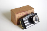 Metro-Cam camera with exposed/undeveloped roll of 127 film (1930s)