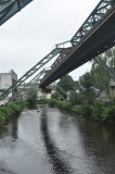 River section of the Schwebebahn