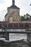 Weir in the Regnitz at the town hall