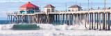 Waves of Huntington Pier