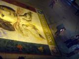 Sand mozaic for Semana Santa, Ayacucho