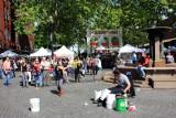 Street artist, Ankeny Square, Portland Saturday Market, Portland, Oregon