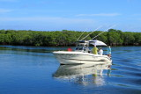 Fishing boat, John Pennekamp Coral Reef State Park, Florida Keys