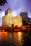 Wrigley building, Chicago River