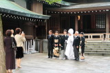 Japanese wedding, Naien, photography, Meiji Jingū, Shinto Shrine, built 1920, Shibuya, Tokyo, Japan