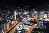 Yokohama, view from Landmark Tower, Japan, photo of a photo