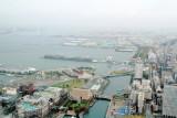 Tokyo Bay, Yokohama, view from Landmark Tower, Japan