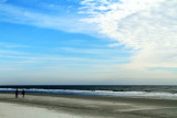 Walk on Coligny beach, Atlantic Ocean