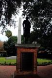 Confederate obelisk behind statute of George Washington. Meeting Place, Charleston Historic District