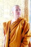 Monk, Wat Traimit, Golden Buddha Temple, Chinatown
