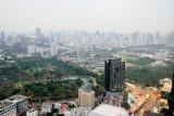 Lumpini Park, View of Bangkok skyline, Banyan Tree Hotel