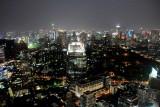 Night view of Bangkok skyline, Banyan Tree Hotel