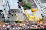 Traffic jam, View of Bangkok skyline, Banyan Tree Hotel