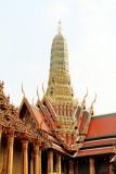 Wat Phra Kaew Temple Spire, Prasat Phra Thep Bidon, Cambodian style, Grand Palace