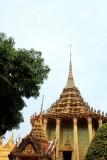 Wat Phra Kaew Temple Spire, Phra Mondop, the library, Thai style, Grand Palace