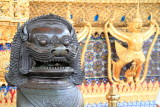 Lion, External decorations of the Ubosoth, the main building of Wat Phra Kaew, Grand Palace