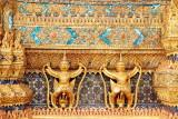 Garudas, External decorations of the Ubosoth, the main building of Wat Phra Kaew, Grand Palace