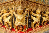 Garudas, External decorations of the Ubosoth, the main building of Wat Phra Kaew, Grand Palace