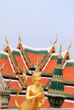 Statue of a kinnara in Wat Phra Kaew, Grand Palace