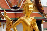 Kinnon – mythological creature, half bird, half man, Wat Phra Kaew, Grand Palace