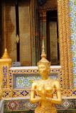 Statue of a kinnari in Wat Phra Kaew, Grand Palace