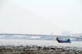Chao Phraya river and a longboat