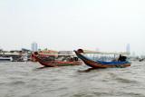 Longboats on the Chao Phraya river