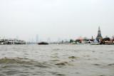 Chao Phraya river and Wat Arun