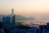 Sunset over Victoria Harbour