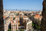 View of Barcelona, Spain from Sagrada Familia
