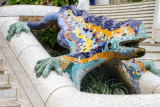 Salamander, popularly known as el drac (the dragon), Park Guell, Antoni Gaudi, Barcelona, Spain